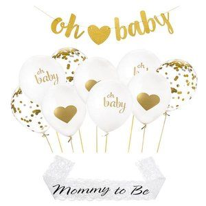 Gold Baby Shower Party Decorations